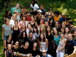 Our group photo 2012 at the potluck completing Richard's training.