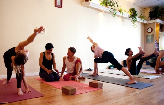 In Mysore class with Dan at Yoga Workshop. Photo by Matt Champoux