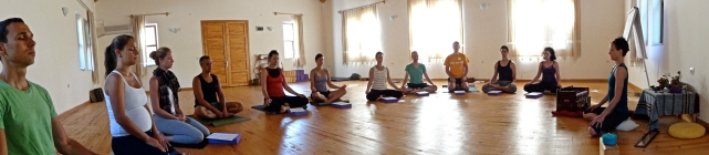 Sitting practice provided a grounded start to our days on retreat. Photo by Handan Karadag