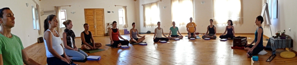 Each day began with a sitting practice. Photo by Handan Karadag
