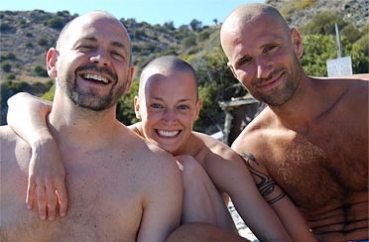 Petros, Dave and I on retreat in Crete. All feeling fresh after a nice beach hair buzz!