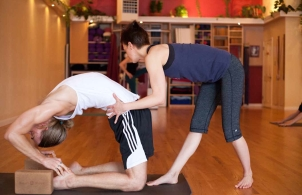 Teaching afternoon mysore at Yoga Workshop. photo by Matt Champoux