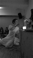 We begin our kirtan and puja.