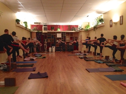 Teaching an Introduction to Ashtanga course at Yoga Workshop in January 2014. Photo by Melissa Fry