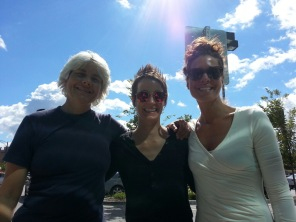 Meeting up with my yoga sisters Deb & Stacy for Richard's workshop at Yogaview.